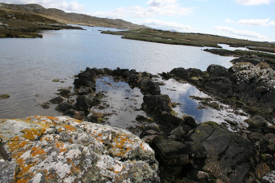 Third of three fish trap complexes Mannin Bay